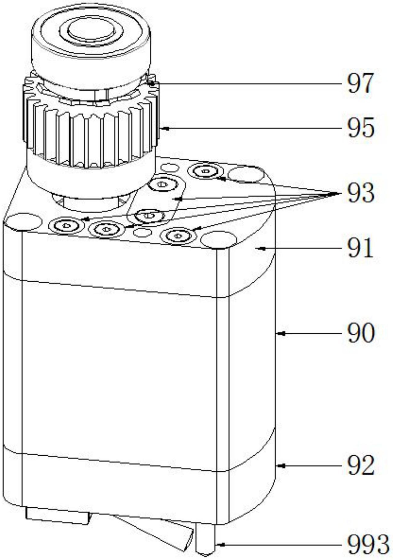 一种磁吸固定的无行程模内攻牙机.png